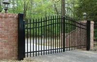 Black Coated Wrought Iron Fence